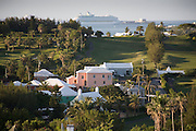 View over Belmont Hills Golf Course and Country Club towards Dockyard Warwick Parish Bermuda