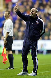 READING, ENGLAND - Tuesday, September 22, 2015: Reading's manager Steve Clarke during the Football League Cup 3rd Round match against Everton at the Madejski Stadium. (Pic by David Rawcliffe/Propaganda)