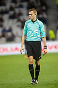Clément Turpin referee during the French Championship Ligue 1 football match between Olympique Lyonnais and SM Caen on march 11, 2018 at Groupama stadium in Decines-Charpieu near Lyon, France - Photo Romain Biard / Isports / ProSportsImages / DPPI