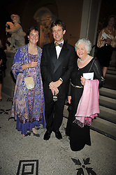 Left to right, GEORGE & KATHARINE WESTON and his mother MARY WESTON at a dinner to celebrate the opening of 'Maharaja - The Spendour of India's Royal Courts' an exhbition at the V&A, London on 6th October 2009.