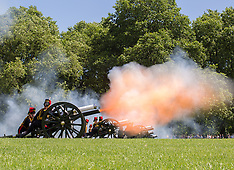 JUN 10 2014 41 Royal Gun Salute being fired for the Duke of Edinburgh