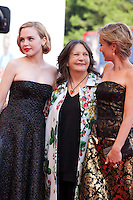 Actress Odessa Young, Director Sue Brooks and Actress Radha Mitchell at the gala screening for the film Looking For Grace at the 72nd Venice Film Festival, Thursday September 3rd 2015, Venice Lido, Italy.