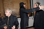 NICK RHODES; JONAS ACKURLUND; JOHN TAYLOR, Harper's Bazaar Women Of the Year Awards 2011. Claridges. Brook St. London. 8 November 2011. <br /> <br />  , -DO NOT ARCHIVE-© Copyright Photograph by Dafydd Jones. 248 Clapham Rd. London SW9 0PZ. Tel 0207 820 0771. www.dafjones.com.