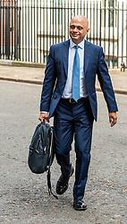 Chancellor, Sajid Javid leaves 11 Downing Street.<br /> <br /> Richard Hancox   EEm 12082019