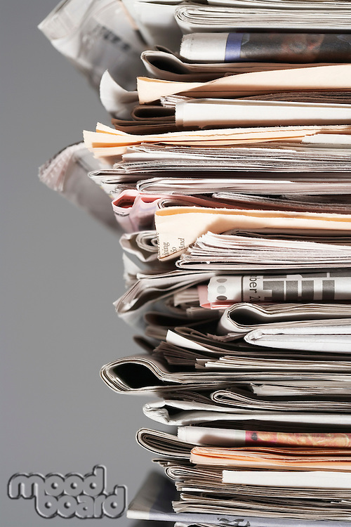 Pile of waste paper close-up