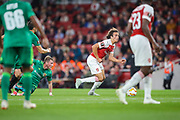 Arsenal midfielder Matteo Guendouzi (29) during the Europa League group stage match between Arsenal and FC Voskla Potlava at the Emirates Stadium, London, England on 20 September 2018.