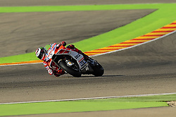 September 23, 2017 - Alcaiz, Spain - Jorge Lorenzo of Ducati Team, in action wit his ducati  during the Gran Premio Movistar de Aragn free practice 3 on September 23, 2017 in Alcaiz, Spain. (Credit Image: © Joan Cros/NurPhoto via ZUMA Press)