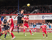 Dundee&rsquo;s Mark O&rsquo;Hara heads over the bar - Dundee v Aberdeen in the Ladbrokes Scottish Premiership at Dens Park, Dundee. Photo: David Young<br /> <br />  - &copy; David Young - www.davidyoungphoto.co.uk - email: davidyoungphoto@gmail.com