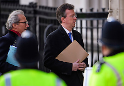 © Licensed to London News Pictures. 05/12/2016. London, UK. Attorney General, Jeremy Wright QC MP, arrives at the Supreme Court  in Westminster, London with his legal team, for first day of a  Supreme Court hearing to appeal against a November 3 High Court ruling that Article 50 cannot be triggered without a vote in Parliament. Photo credit: Ben Cawthra/LNP