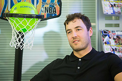 Marko Milic during press conference of Basketball Federation of Slovenia - KZS when signing a contract with Tourist agency Kompas for selling Eurobasket 2015 tickets, on March 2, 2015 in Ljubljana, Slovenia. Photo by Vid Ponikvar / Sportida