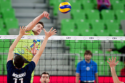Matevz Kamnik #7 of Slovenia during volleyball match of FIVB Men's Volleyball World Championship 2014 Qualifications between National teams of Slovenia and Moldova in pool B on May 25, 2013 in Arena Stozice, Ljubljana, Slovenia. (Photo By Urban Urbanc / Sportida)