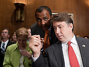 """Aug 4, 2010 - Washington, District of Columbia, U.S., - Assistant EPA Administrator PAUL ANASTAS (RIGHT) of the Office of Research and Development testifies during an Environment and Public Works Committee hearing on """"Oversight Hearing on the Use of Oil Dispersants in the Deepwater Horizon Oil Spill."""".(Credit Image: © Pete Marovich/ZUMA Press)"""