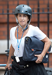 © Licensed to London News Pictures. 09/07/2018. London, UK. Marina Wheeler, wife of Boris Johnson, arrives at the official residence of the foreign secretary after Boris Johnson resigned. Brexit Secretary David Davis has resigned over Prime Minister Theresa May's Brexit Plan. Mr Davis was appointed to the post in 2016 and was responsible for negotiating the UK's EU withdrawal. Photo credit: Peter Macdiarmid/LNP