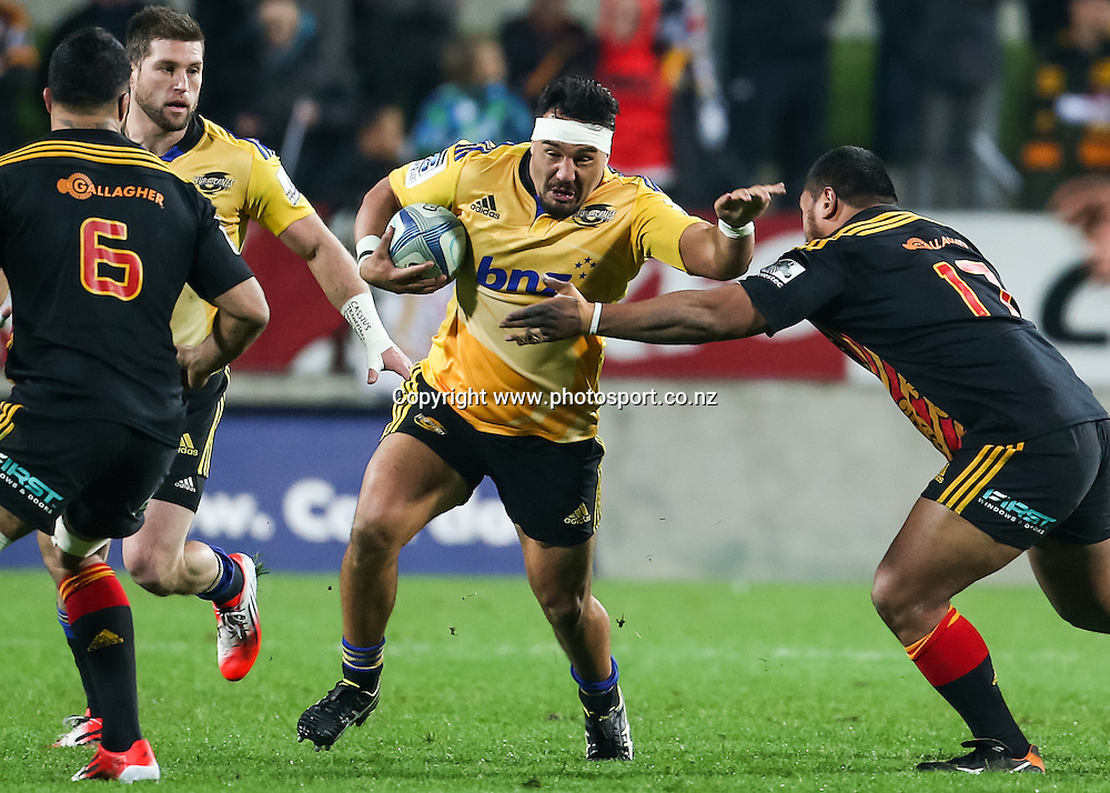 Hurricanes' Ash Dixon in action during the Super 15 Rugby match - Chiefs v Hurricanes at Waikato Stadium, Hamilton, New Zealand on Friday 4 July 2014.  Photo:  Bruce Lim / www.photosport.co.nz