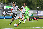 Forest Green Rovers Elliott Frear (11) crosses the ball during the Vanarama National League match between Forest Green Rovers and Bromley FC at the New Lawn, Forest Green, United Kingdom on 17 September 2016. Photo by Shane Healey.