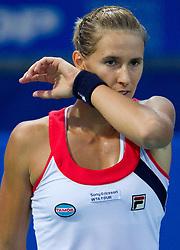 Polona Hercog of Slovenia at first semifinal match of Singles at Banka Koper Slovenia Open WTA Tour tennis tournament, on July 24, 2010 in Portoroz / Portorose, Slovenia. (Photo by Vid Ponikvar / Sportida) / SPORTIDA PHOTO AGENCY