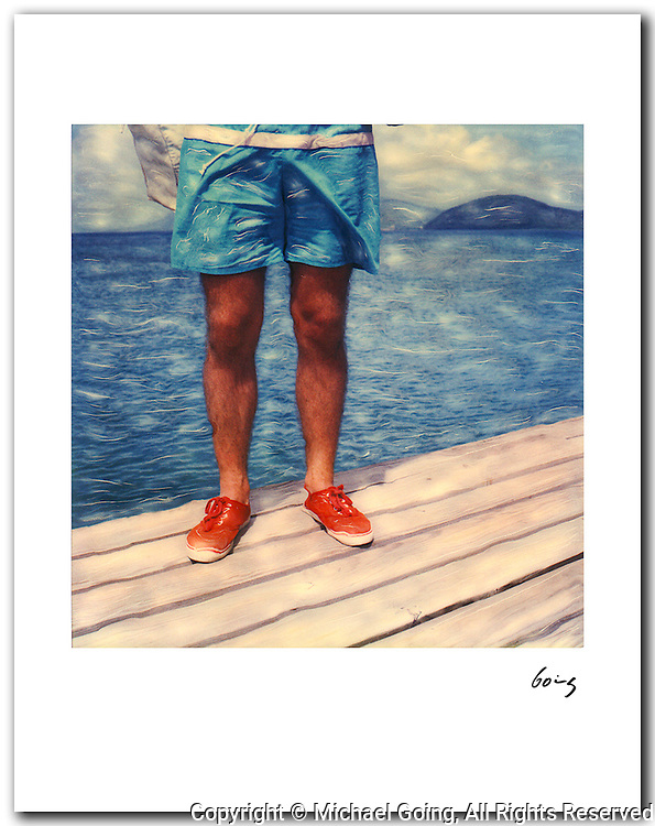Legs & Dock 1985 St Kitts BWI 11x14 signed archival pigment print