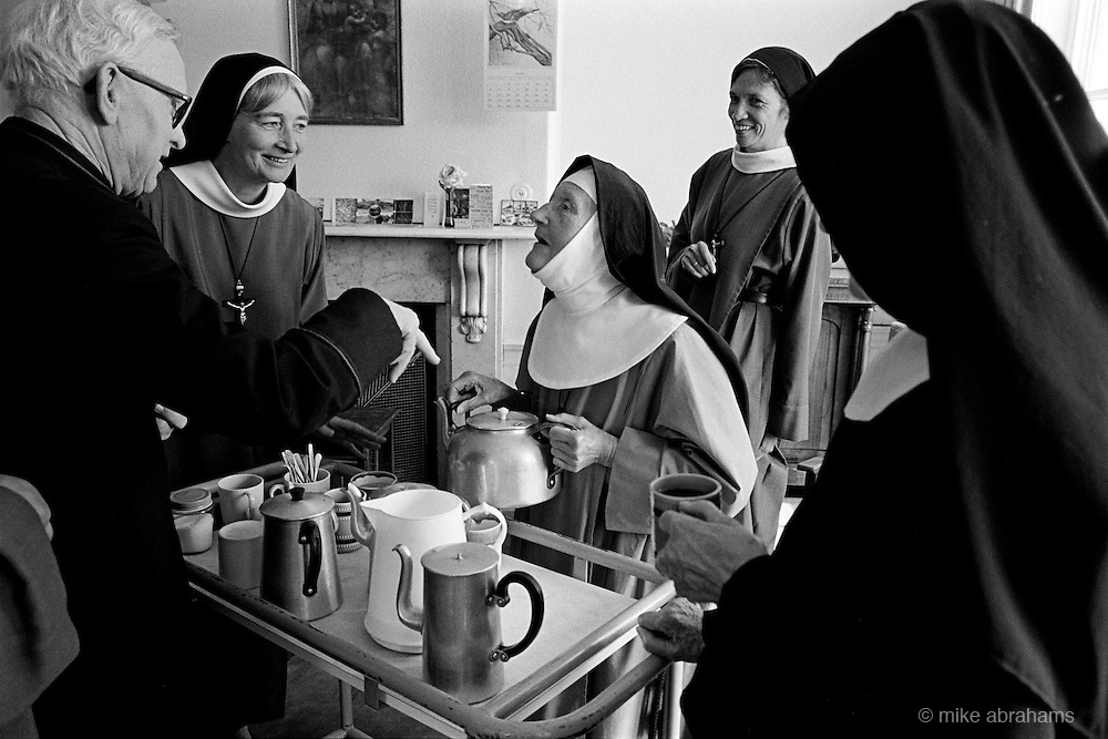 Nuns taking tea at the Anglican Convent of the Holy Name, Malvern