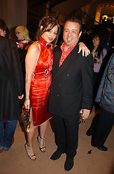 HAMISH McALPINE and CAROLE SILLER at a party to celebrate 100 years of Chinese Cinema hosted by Shangri-la Hotels and Tartan Films at Asprey, New Bond Street, London on 25th April 2006.<br />