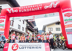 11.07.2019, Kitzbühel, AUT, Ö-Tour, Österreich Radrundfahrt, 5. Etappe, von Radstadt nach Fuscher Törl (103,5 km), im Bild v.l. Riccardo Zoidl (CCC Team, AUT), Georg Zimmermann (Tirol KTM Cycling Team, GER), Ben Hermans (Israel Cycling Academy, BEL) beim Start // v.l. Riccardo Zoidl (CCC Team, AUT), Georg Zimmermann (Tirol KTM Cycling Team, GER), Ben Hermans (Israel Cycling Academy, BEL) during 5th stage from Bruck an der Glocknerstraße to Kitzbühel (161,9 km) of the 2019 Tour of Austria. Kitzbühel, Austria on 2019/07/11. EXPA Pictures © 2019, PhotoCredit: EXPA/ JFK