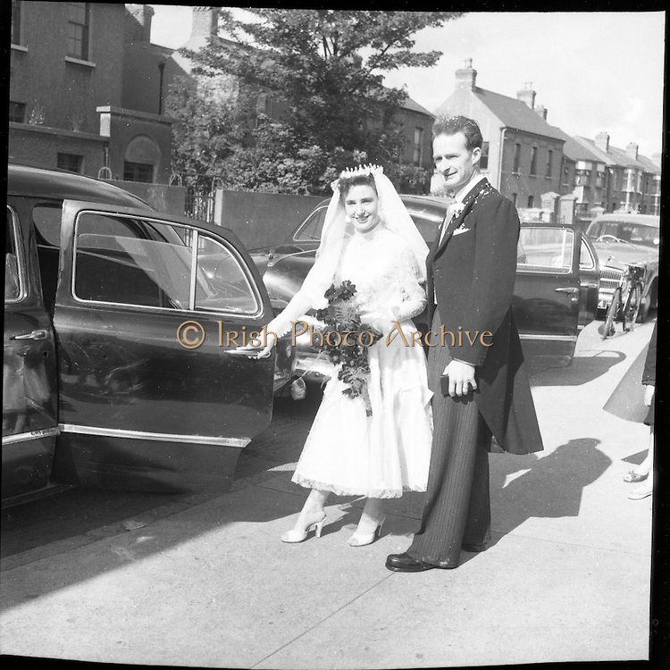 04/08/1956<br /> 08/04/1956<br /> 04 August 1956<br /> <br /> Wedding - Nugent-Ward at Our Lady of Fatima Church, Rialto