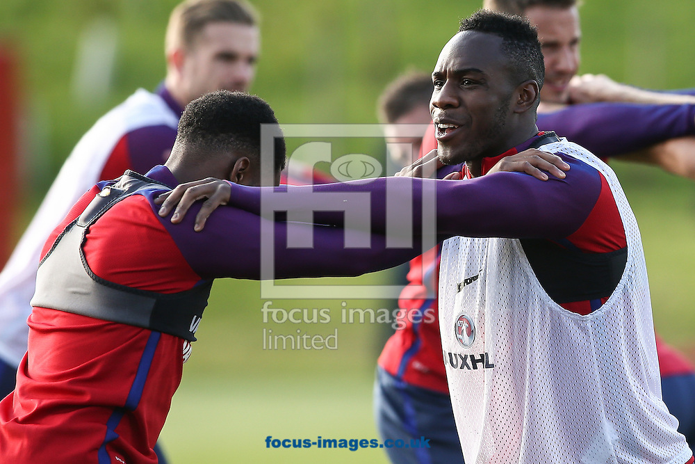 Michail Antonio (West Ham) during the England training session at St Georges Park, Burton upon Trent<br /> Picture by Andy Kearns/Focus Images Ltd 0781 864 4264<br /> 04/10/2016