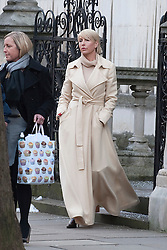 © Licensed to London News Pictures. 09/02/2012. London, UK. Heather Mills (right) leaving the Royal Courts of Justice on February 9th, 2012 after giving evidence at the Leveson Inquiry in to press standards.. Photo credit : Ben Cawthra/LNP