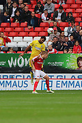 AFC Wimbledon striker Andy Barcham (17) during the EFL Sky Bet League 1 match between Charlton Athletic and AFC Wimbledon at The Valley, London, England on 17 September 2016. Photo by Stuart Butcher.