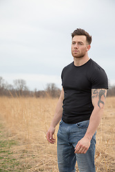 handsome muscular man outdoors