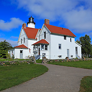 &quot;Upon Point Iroquois&quot;<br /> <br /> Lovely Point Iroquois Light Station located on Lake Superior!!<br /> <br /> Lighthouses of the Great Lakes by Rachel Cohen