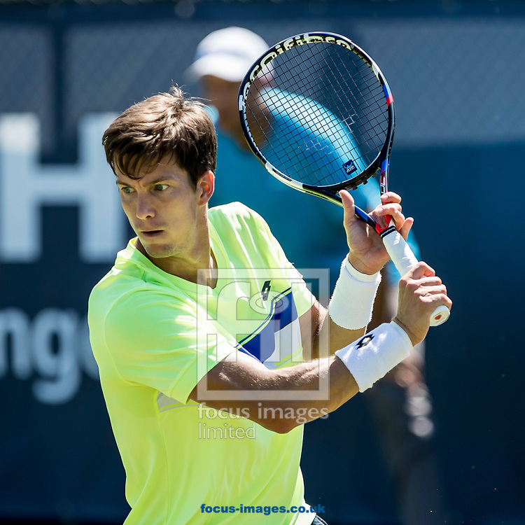 Aljaz Bedene (GBR) wins his match and is in the quarter final on day three of the Ricoh Open Tennis Tournament at the Autotron, Rosmalen, Netherlands.<br /> Picture by Joep Joseph Leenen/Focus Images Ltd +316 5261929<br /> 14/06/2017<br /> ***NETHERLANDS OUT***