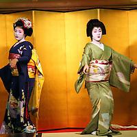 Asia, Japan, Kyoto. Geisha dance.