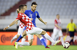 12.06.2015, Stadion Poljud, Split, CRO, UEFA Euro 2016 Qualifikation, Kroatien vs Italien, Gruppe H, im Bild Ivan Perisic, Marco Parolo // during the UEFA EURO 2016 qualifier group H match between Croatia and and Italy at the Stadion Poljud in Split, Croatia on 2015/06/12. EXPA Pictures © 2015, PhotoCredit: EXPA/ Pixsell/ Igor Kralj<br /> <br /> *****ATTENTION - for AUT, SLO, SUI, SWE, ITA, FRA only*****
