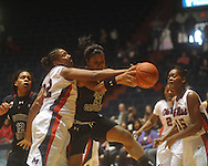 Ole Miss vs. South Carolina in women's college basketball action in Oxford, Miss., on Sunday, January 16, 2011. South Carolina won 63-58 in overtime.