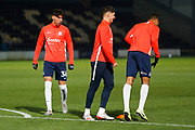 Isaac Hutchinson warms up before the EFL Sky Bet League 1 match between Burton Albion and Southend United at the Pirelli Stadium, Burton upon Trent, England on 3 December 2019.