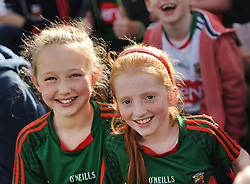 Summer Smiles as Mayo march on &hellip;..Mayo fans Ciara Gravin and  Aoibheann McManamon from Newport at McHale park watching Mayo overcome the challenge of Kildare in the All Ireland qualifers.<br />