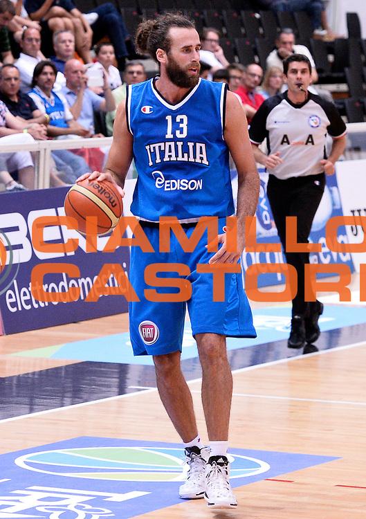 DESCRIZIONE : Trento Nazionale Italia Uomini Trentino Basket Cup Italia Olanda Italy Holland<br /> GIOCATORE : Luigi Datome<br /> CATEGORIA : palleggio<br /> SQUADRA : Italia Italy<br /> EVENTO : Trentino Basket Cup<br /> GARA : Italia Olanda Italy Holland<br /> DATA : 11/07/2014<br /> SPORT : Pallacanestro<br /> AUTORE : Agenzia Ciamillo-Castoria/R.Morgano<br /> Galleria : FIP Nazionali 2014<br /> Fotonotizia : Trento Nazionale Italia Uomini Trentino Basket Cup Italia Olanda Italy Holland