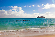 "Lanikai, which translates to, ""Heavenly Sea,"" is a beautiful sandy beach on the windward side of Oahu, located about 30 minutes from downtown Honolulu."