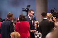 DEU, Deutschland, Germany, Leipzig, 22.11.2019: Mike Mohring, CDU-Landeschef in Thüringen, während eines Interviews für den MDR beim Bundesparteitag der CDU in der Messe Leipzig.