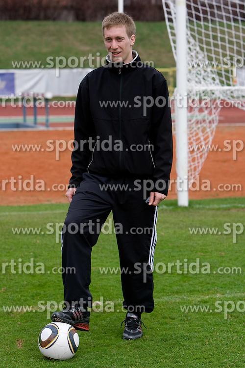Football player of NK Interblock Robert Beric, on March 25, 2010, ZAK stadium, Ljubljana, Slovenia. (Photo by Vid Ponikvar / Sportida)