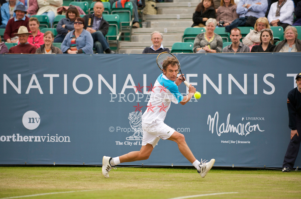 LIVERPOOL, ENGLAND - Sunday, June 21, 2009: Mats Wilander (SWE) during Day Five of the Tradition ICAP Liverpool International Tennis Tournament 2009 at Calderstones Park. (Pic by David Rawcliffe/Propaganda)
