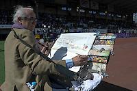 Illustration Peintre / Aquareliste / Joel BLANC  - 05.04.2015 - Racing Metro 92 / Sarances - 1/4Finale European Champions Cup<br />Photo : Andre Ferreira / Icon Sport