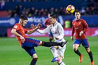Club Atletico Osasuna's defender David Garcia in action during the match of La Liga between Club Atletico Osasuna and Real Madrid  at El Sadar Stadium in Pamplona, Spain. February 11, 2017. (ALTERPHOTOS/Rodrigo Jimenez)