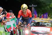Domenico Pozzovivo (ITA - Bahrain - Merida) during the 105th Edition of Tour de France 2018, cycling race stage 20, time trial, Saint Pee sur Nivelle - Espelette (31 km) on July 28, 2018 in Espelette, France - Photo Kei Tsuji / BettiniPhoto / ProSportsImages / DPPI