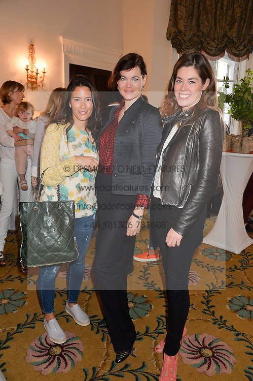Left to right, PATRICIA DENTE, JASMINE GUINNESS and SOPHIE STANBURY at a breakfast hosted by Zita West and Leo Bamford to launch a range of vitamins for babies & children held at the Royal Society of Medicine, Chandos House, 2 Queen Anne Street, London on 21st May 2015.