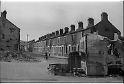 View of Belfast, Barricades, Falls Rd, Clonard, bombay st, nationalists, homes burned, by British loyalists,  <br /> 30/08/1969