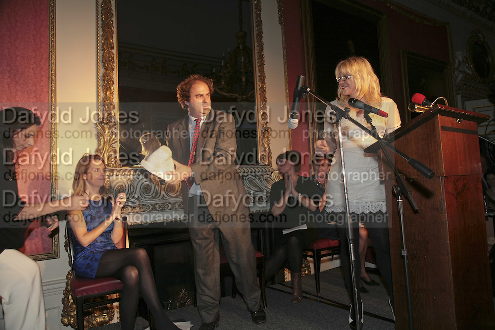 ALEXANDER WAUGH AND COURTNEY LOVE, Literary Review's Bad Sex In Fiction Prize.  In &amp; Out Club (The Naval &amp; Military Club), 4 St James's Square, London, SW1, 29 November 2006. <br />