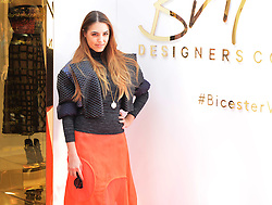 © London News Pictures. 20/05/2015. Amber Le Bon.<br /> British Designers Collective. Celebrities  launch 6-week pop up shop at Bicester Village. Celebrities launching the 6-week event called the British Designers Collective in which a pop-up shop has been installed to sell one of pieces from up and coming designers. Photo credit: Richard Cave/LNP