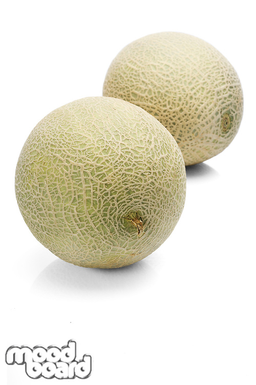 Melons on white background -close-up
