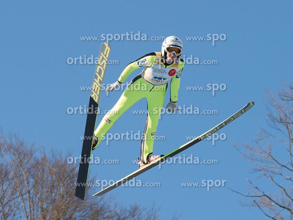 31.01.2015, Energie AG Skisprung Arena, Hinzenbach, AUT, FIS Weltcup Ski Sprung, Hinzenbach, Damen, Wettkampf im Bild Siegerin Daniela Iraschko-Stolz (AUT) // during FIS Ski Jumping World Cup Ladies at the Energie AG Skisprung Arena, Hinzenbach, Austria on 2015/01/31. EXPA Pictures © 2015, PhotoCredit: EXPA/ Reinhard Eisenbauer
